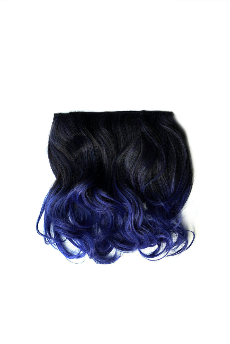 Blue Tone Ombre Halo Extensions -  Hair Extension, Soho Style