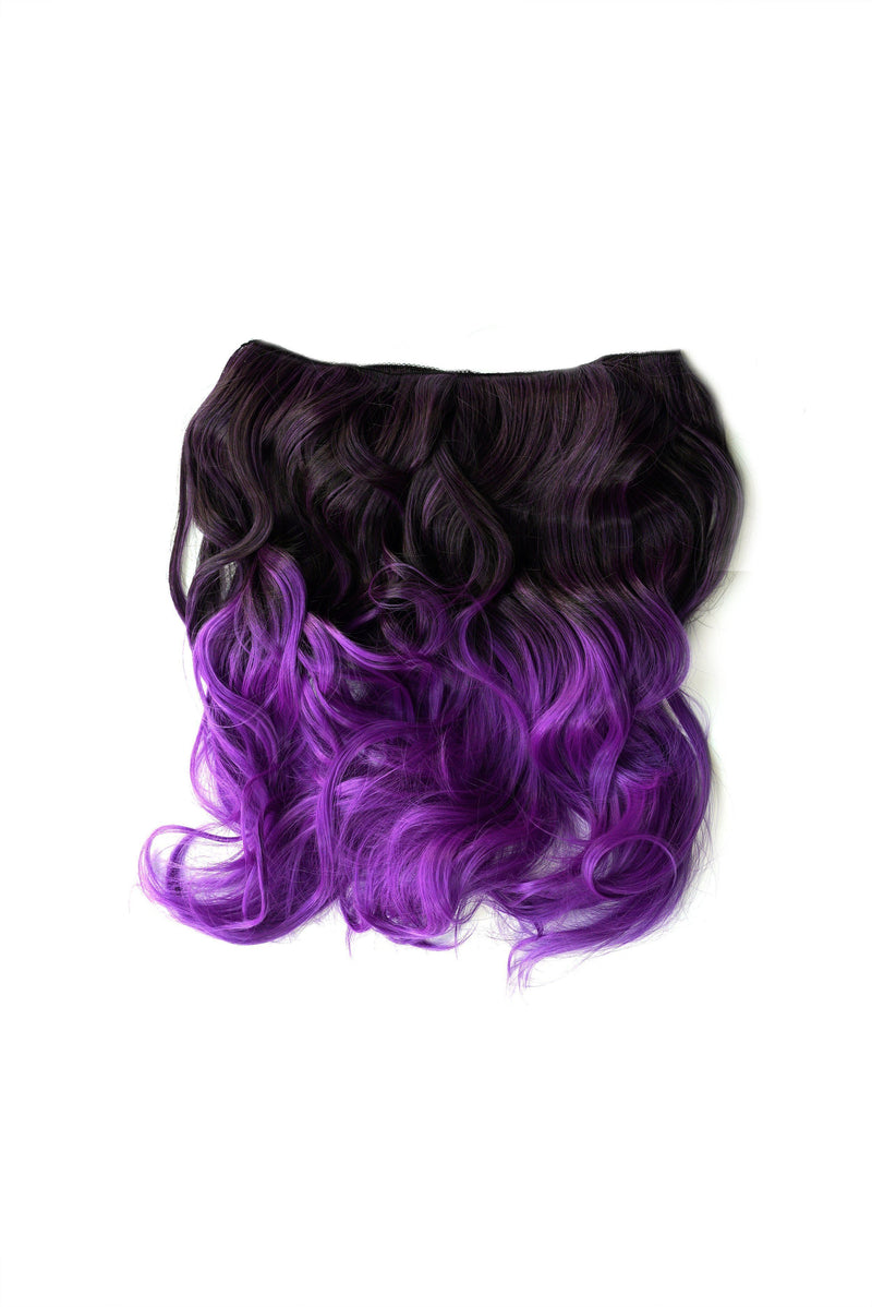 Soho Style Hair Extension 19'' / bright purple Purple/Grey Tone Ombre Halo Extensions