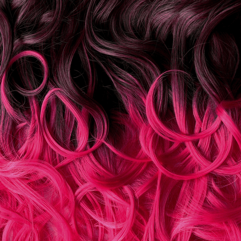 Soho Style Hair Extension 19'' / hot pink ombre Pink/Red Tone Ombre Halo Extensions