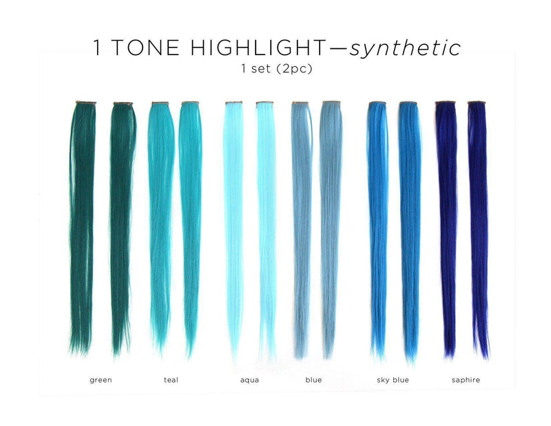 Highlight Color Clip Extensions (sold as pair) -  Hair Extension, Soho Style