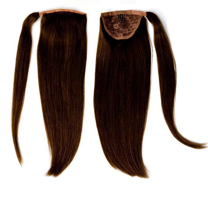 Soho Style Hair Extension S07: H. Medium Brown Juliet 18'' Human Ponytail Extension
