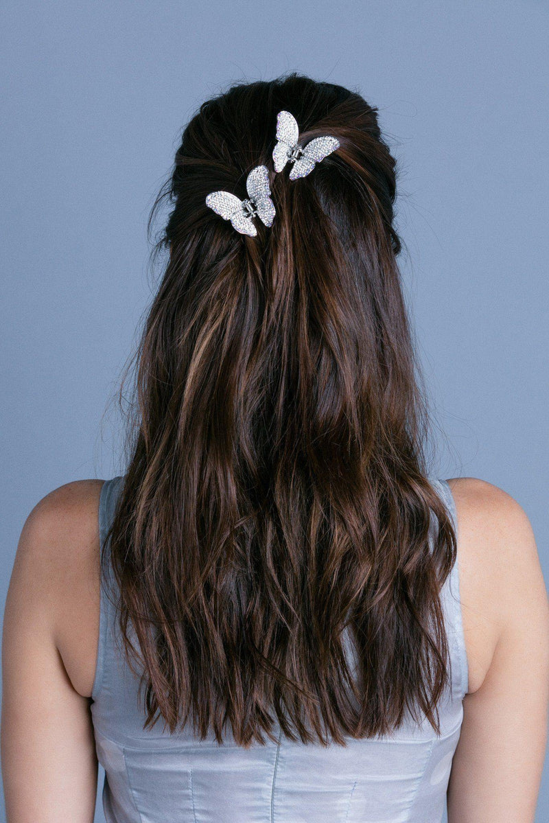 Soho Style Hair Jaws Ombre Crystal Butterfly Jaw