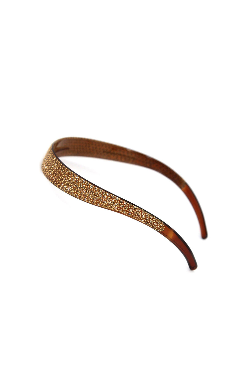 Soho Style Headband Amber Lightweight Crystal Covered Headband