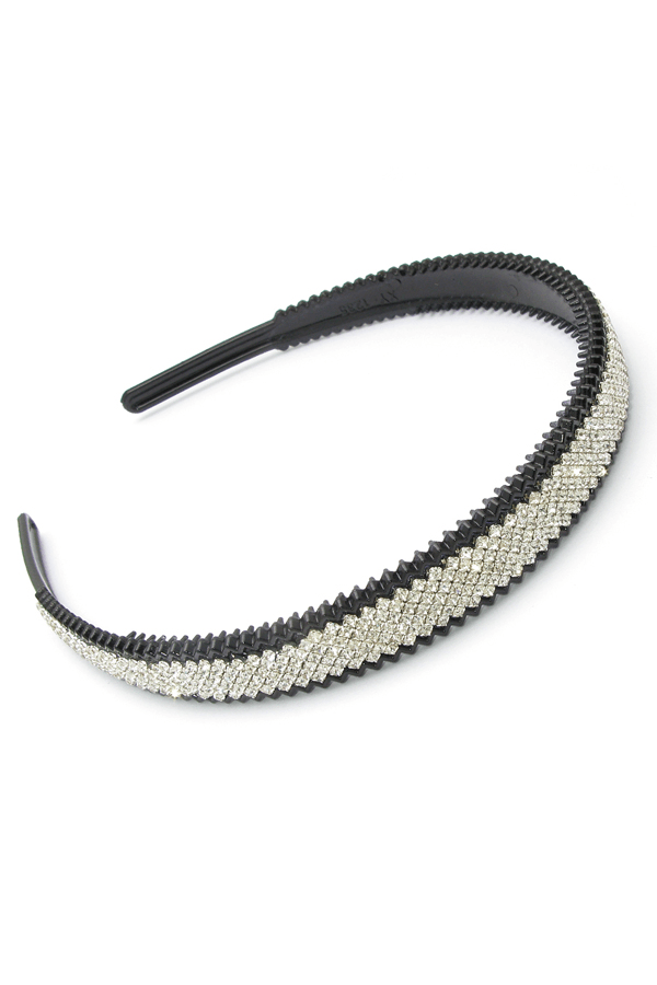 Soho Style Headband Clear Crystal Covered Bling Headband