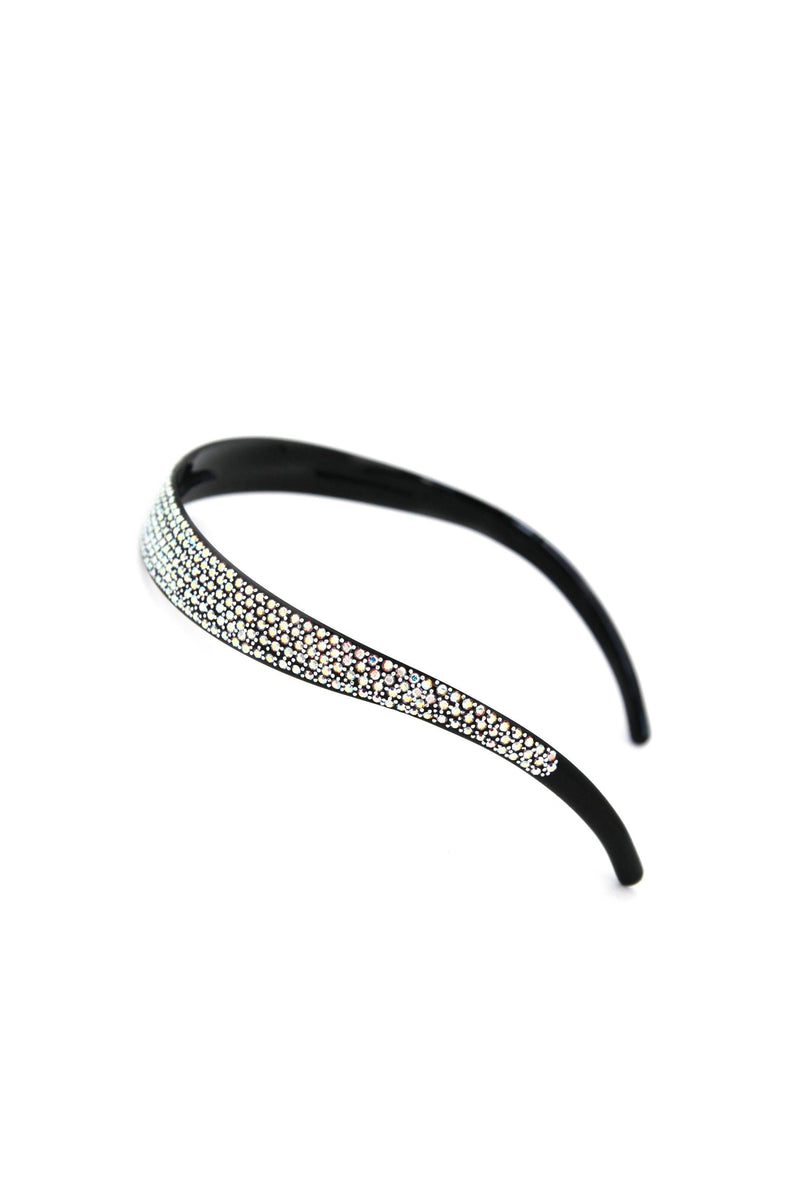Soho Style Headband Clear Lightweight Crystal Covered Headband