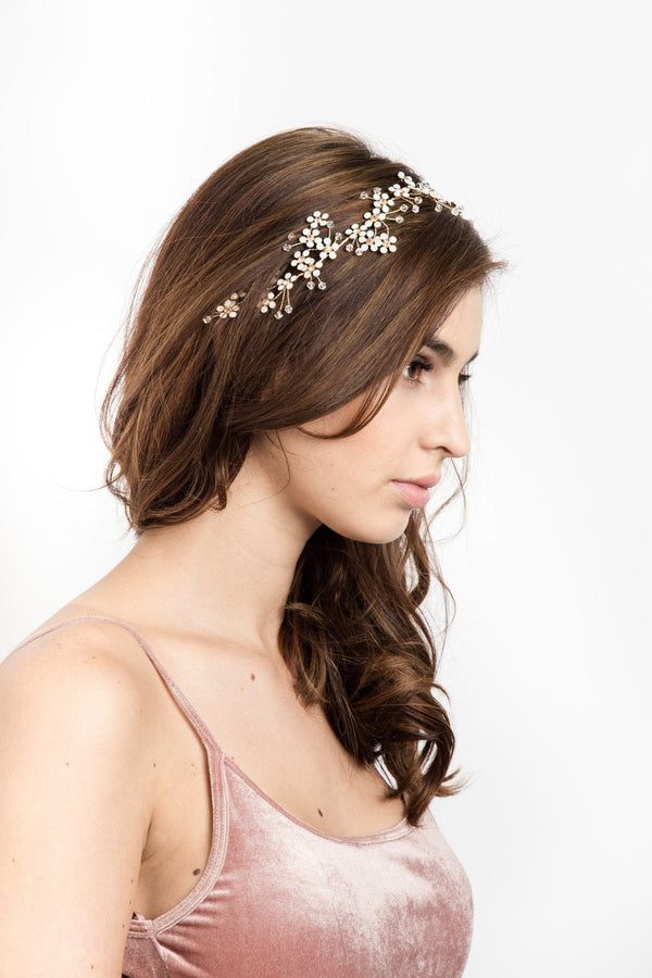 Delilah Flower Hair Crown -  Headbands, Soho Style