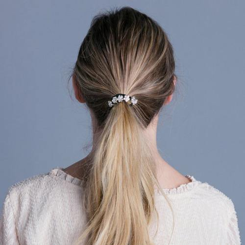 Dainty Crystal Flower Ponytail Holder -  Ponytail Holder, Soho Style
