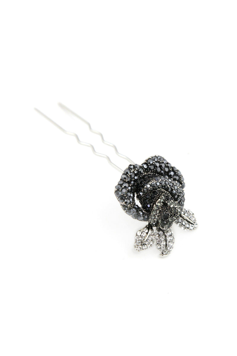 Soho Style Stick Black Rose Hair Stick