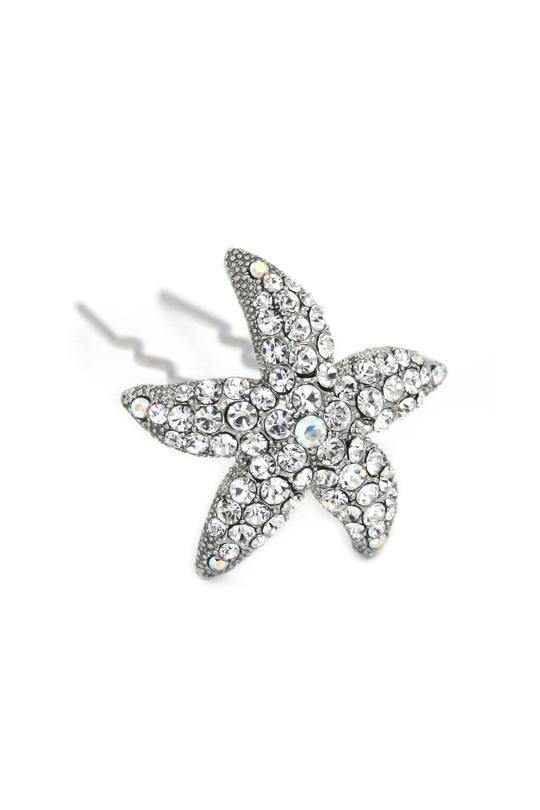 Crystal Starfish Hair Stick