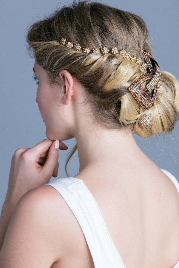 Soho Style Stick Mini Crystal Cluster Hair Stick
