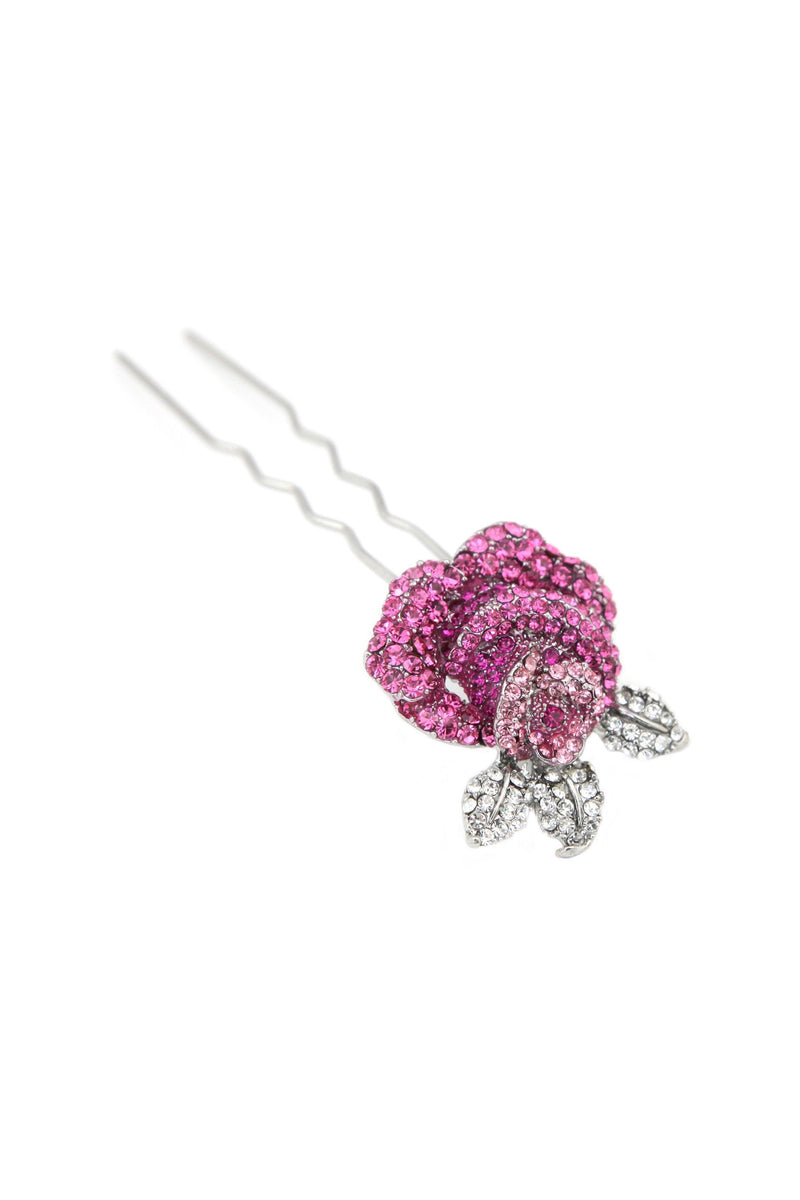 Soho Style Stick Pink Rose Hair Stick