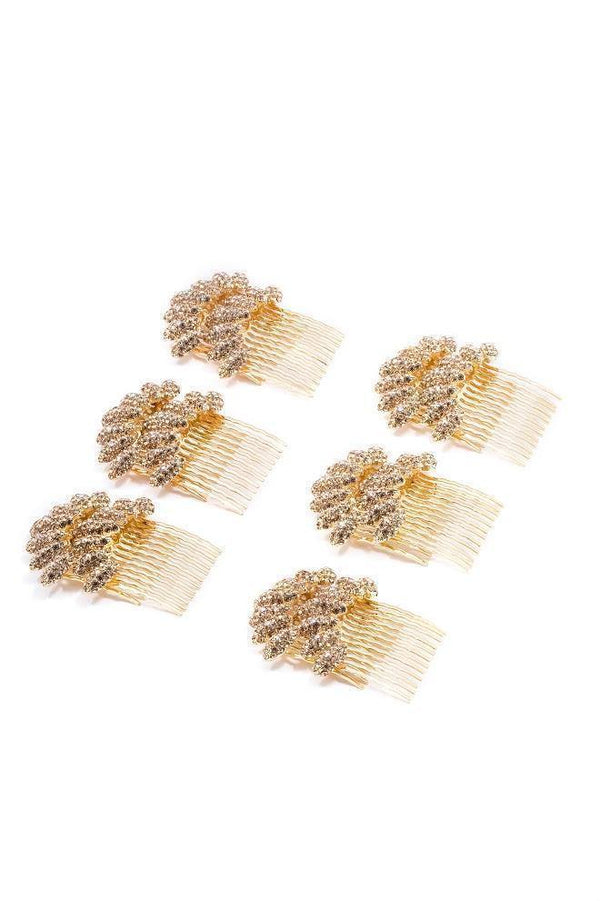 Almond Cluster Crystal Comb (Deluxe Set) -  value set, Soho Style