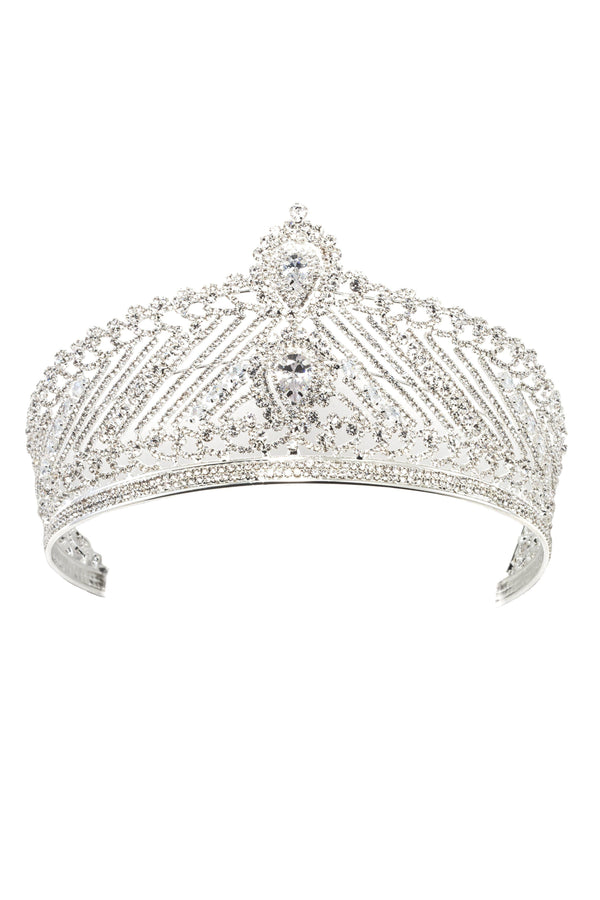 Soho Style Wedding Alydia Crystal Crown Tiara