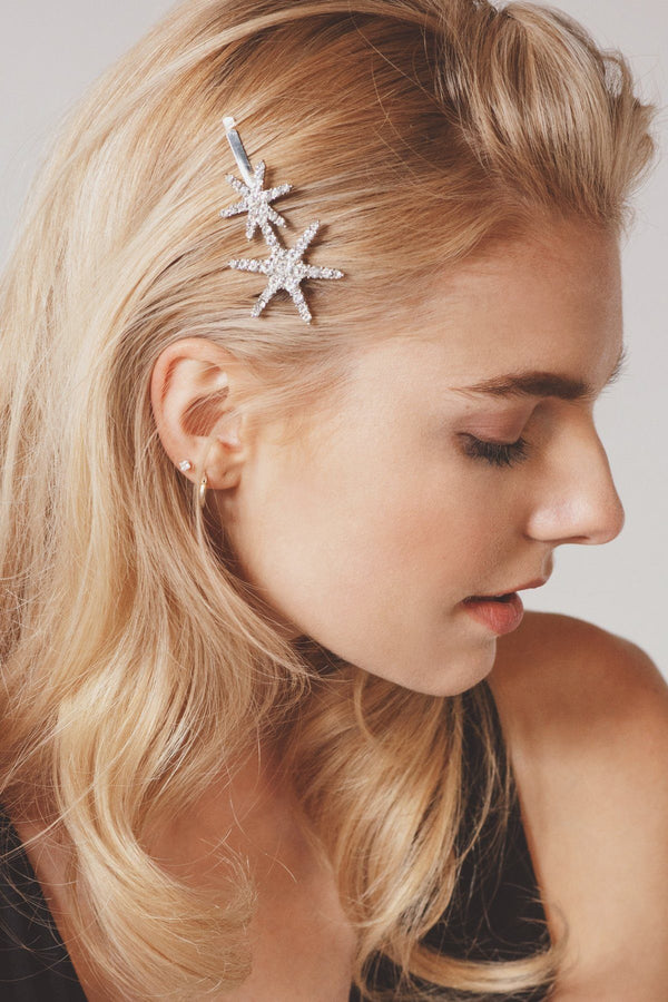 Twin Stars Crystal Bobby Pin