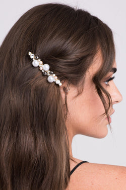 Elegant Tri-color Faux Pearl Barrette