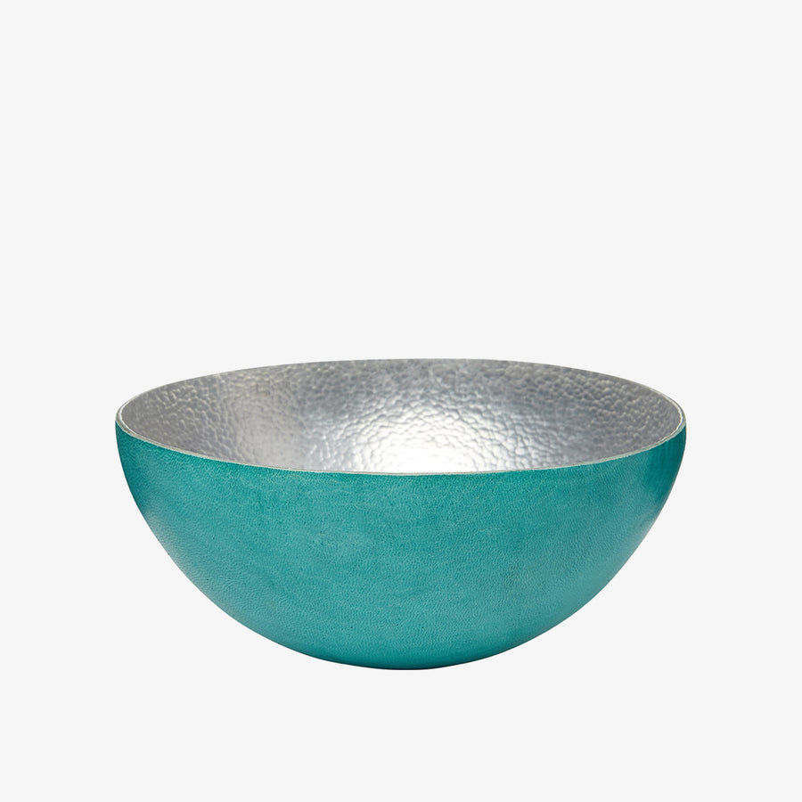 Bowl in Alu & Turquoise