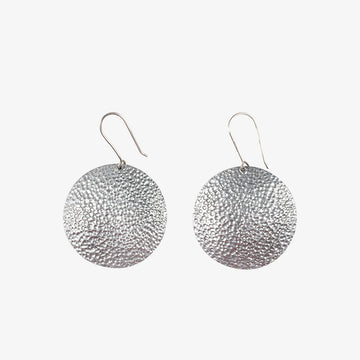 Round Earrings in Alu & Grey