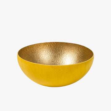 Bowl in Brass & Yellow