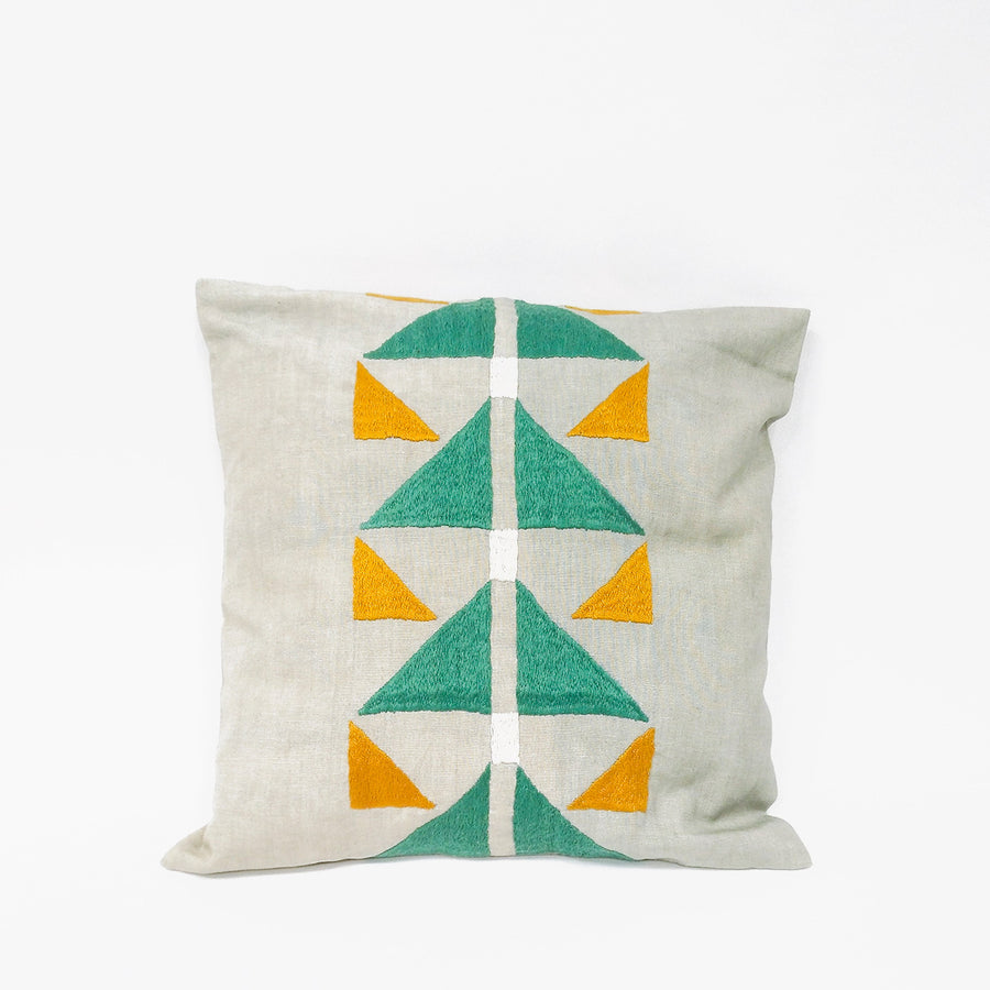 Pukhtadozi Green Cushion