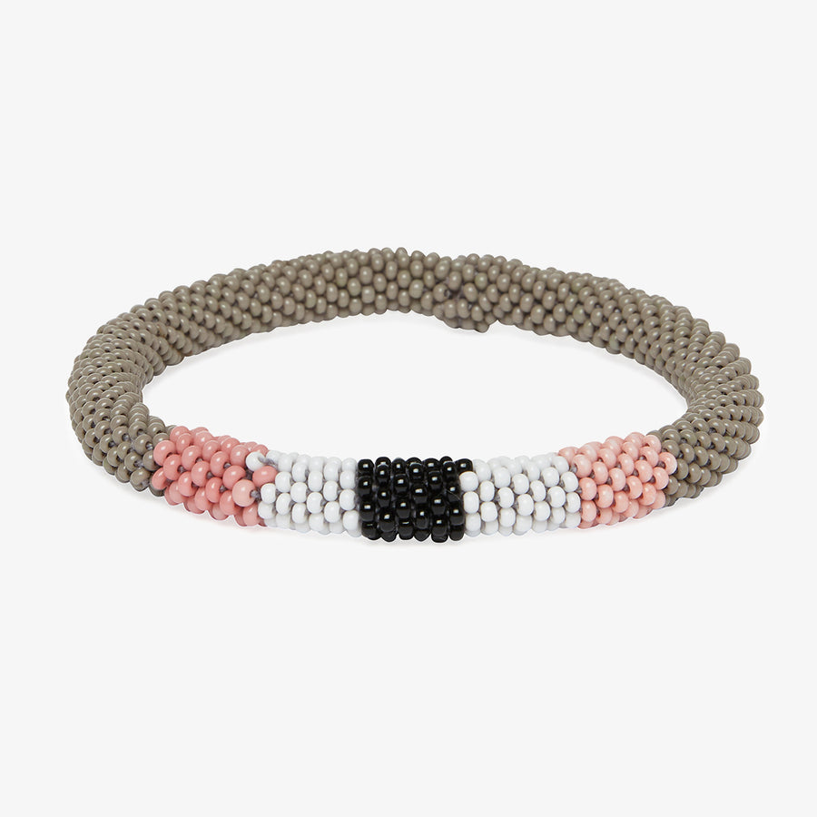 Beaded Bracelet in Grey