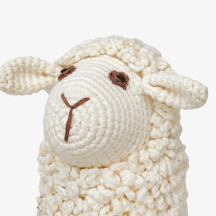 Farawee the Sheep, Crafted by Syrian Refugees, Crocheted Toys, Bebemoss