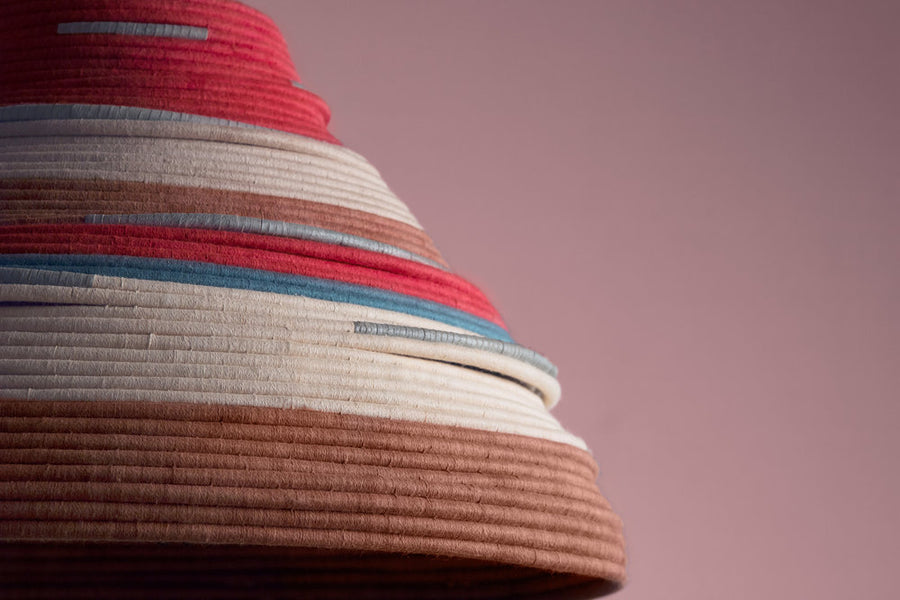 Bella Lamp, Crafted by Malian Refugees, Handweaved Homewares, AAKS