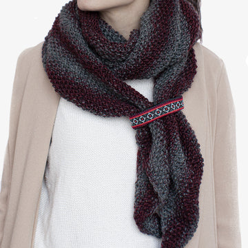 Drape Shawl in Burgundy