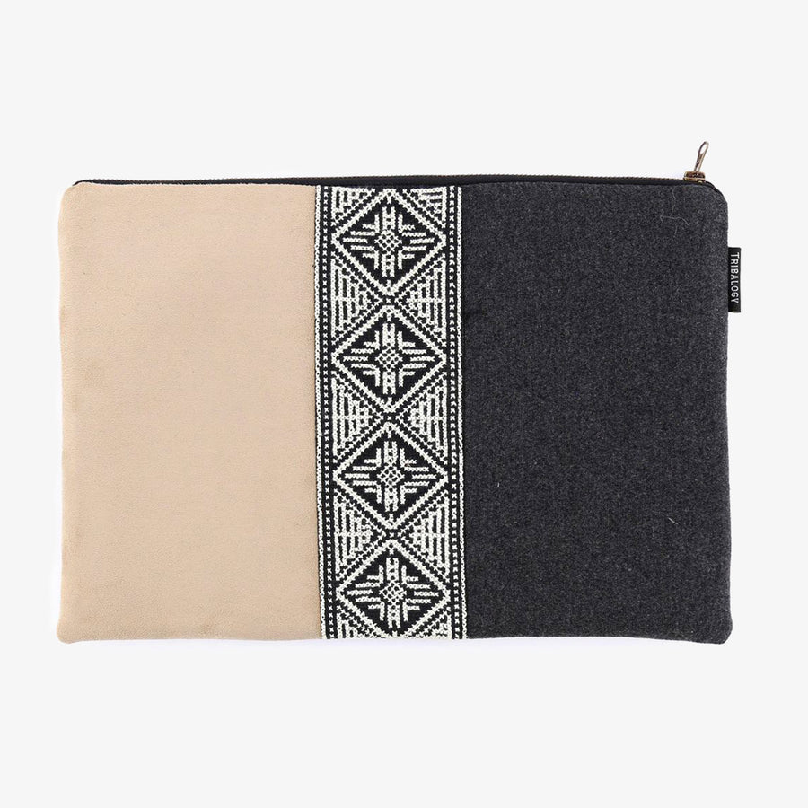 Laptop Sleeve in Grey & Taupe