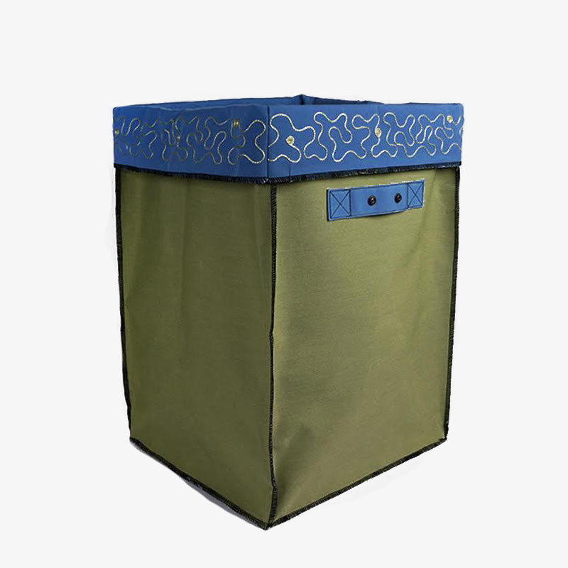 Large Storage Containers in Blue & Green, Crafted by Syrian Refugees, Handcrafted Homewares, Waste Studio