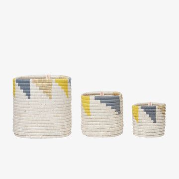 Open Storage Baskets, Crafted by Syrian Refugees, Handweaved Homewares, Womencraft