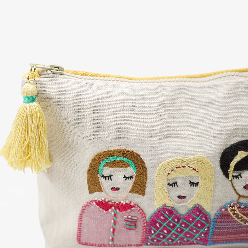Pouch of Unity, Crafted by Syrian Refugees, Handstitched Accessory, Rim N Roll