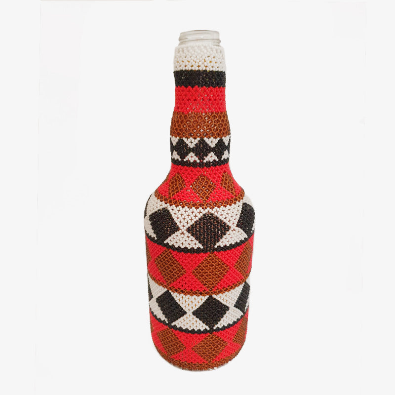 Beaded Bottle in Checks