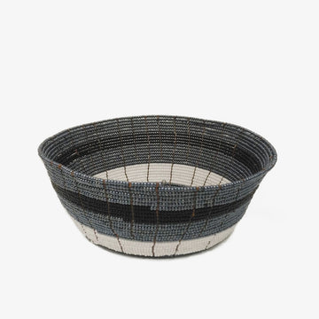 Beaded Bowl in Dark Grey
