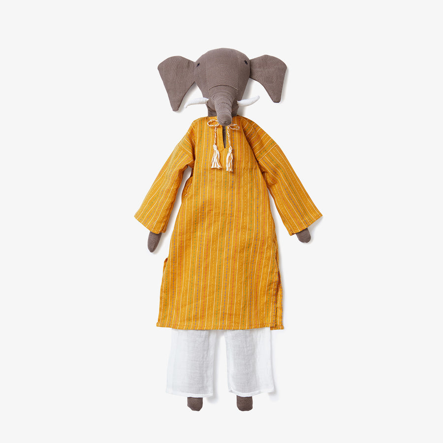 Mamba the Elephant Doll, Crafted by Afghan Refugees, Handmade Dolls, SilaiWali