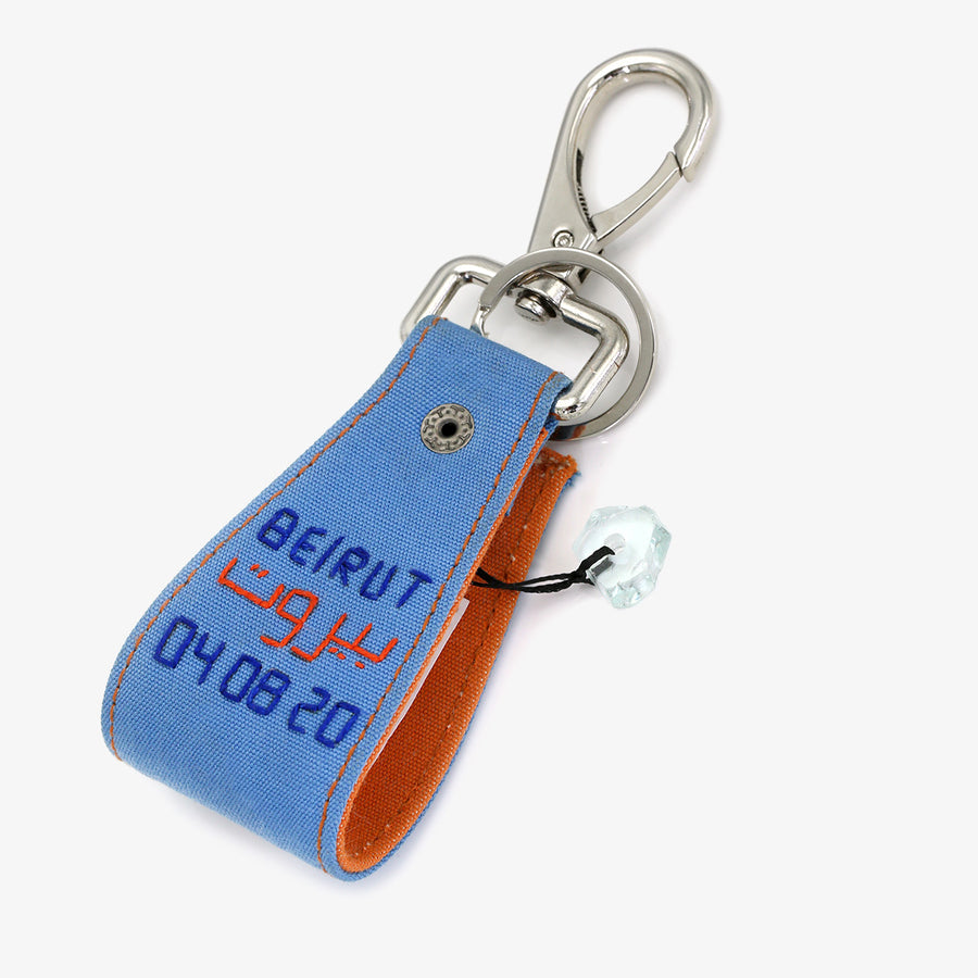 Together for Beirut Keychain in Blue