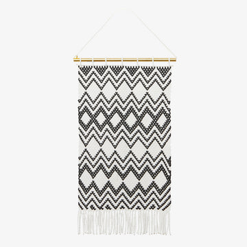 Wall Hanging in Black & White, Crafted by South Sudanese Refugees, Handcrafted Homewares , Roots