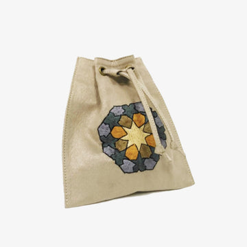 Waist Bag with Hand-Embroidery in Warm Grey, Crafted by Syrian Refugees, Handmade Accessory, Rim N Roll