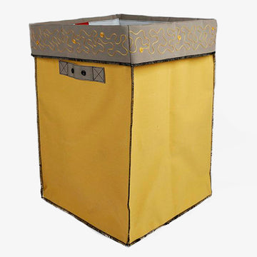 XXL Storage Containers in Yellow & Beige, Crafted by Syrian Refugees, Handcrafted Homewares, Waste Studio