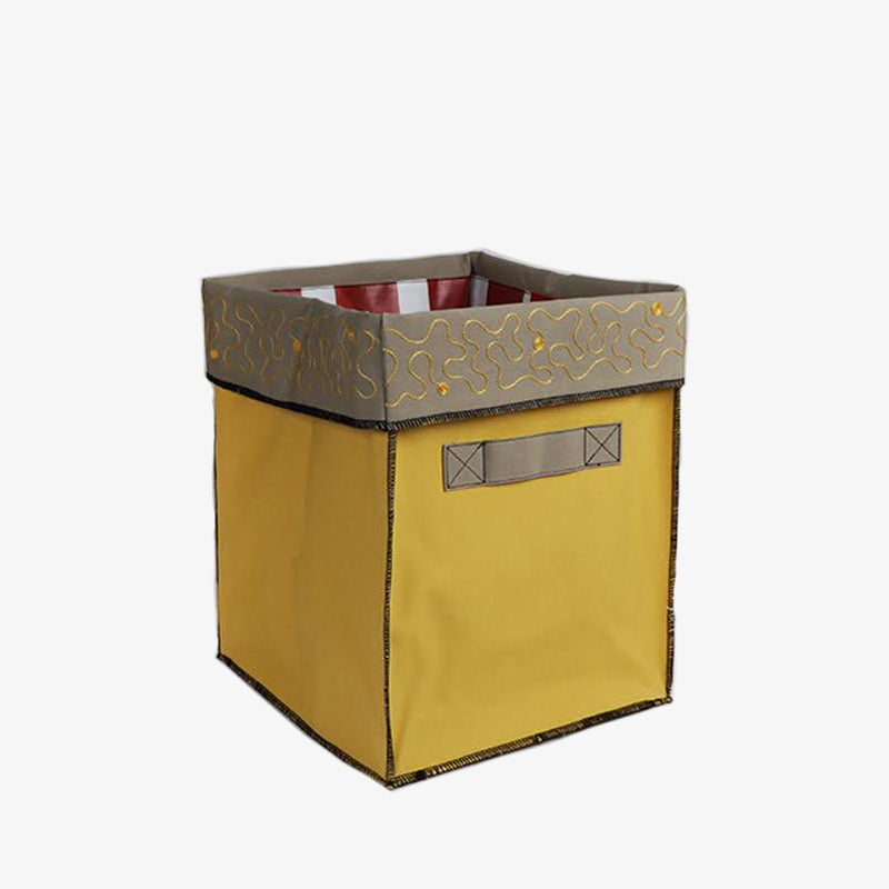 Small Storage Containers in Yellow & Beige, Crafted by Syrian Refugees, Handcrafted Homewares, Waste Studio