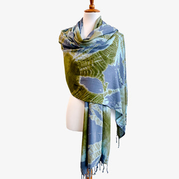 Daratu Scarf, Crafted by Congolese, Somali, South Sudanese and Ethiopian Refugees, Hand-dyed Shibori Scarves, RefuSHE