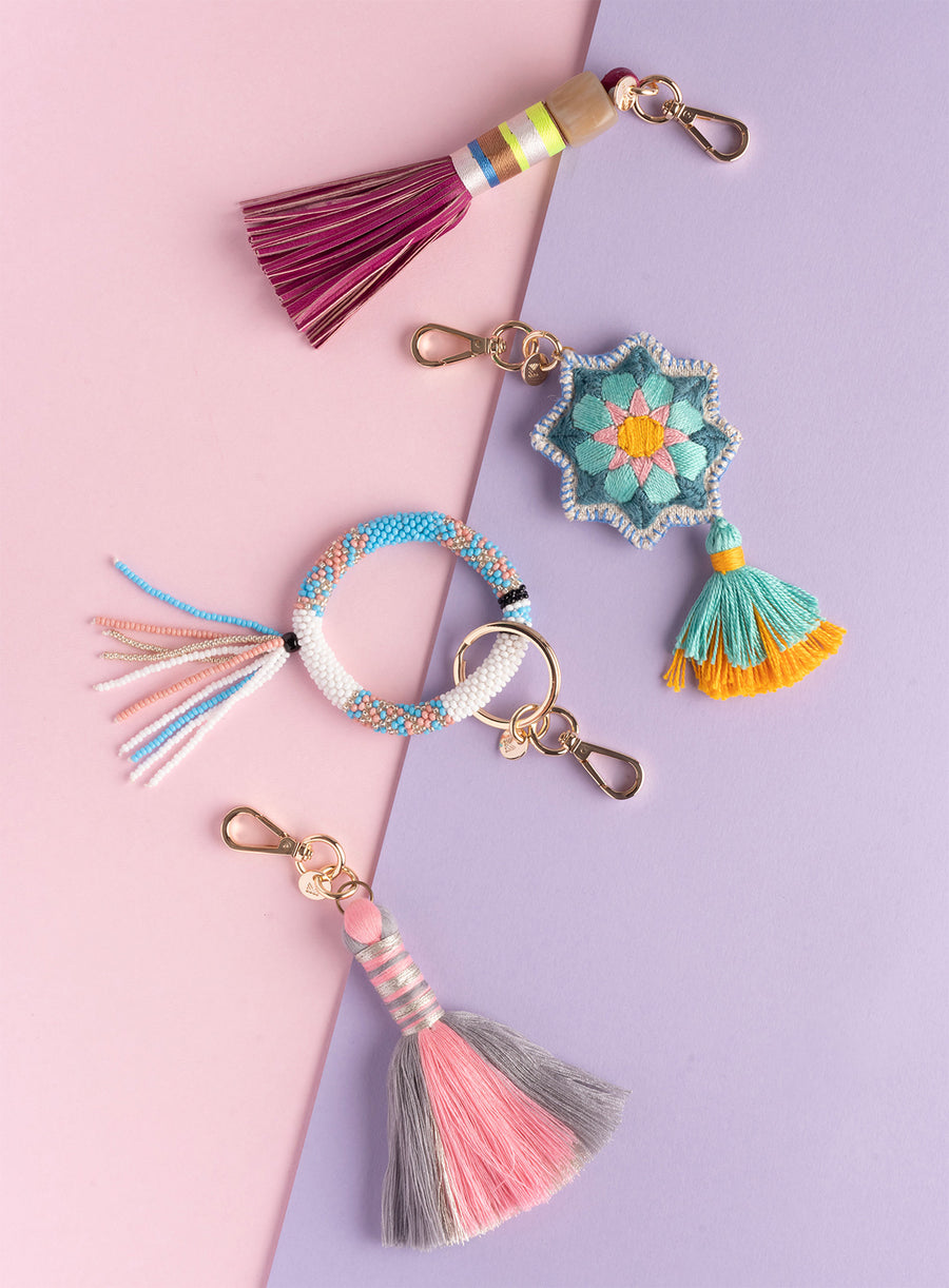Tassel of Hope, Crafted by Rohingya Refugees, Handmade Bag Charms, Earth Heir