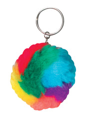 "Photo of 2"" Rainbow Pom Pom Keychain"