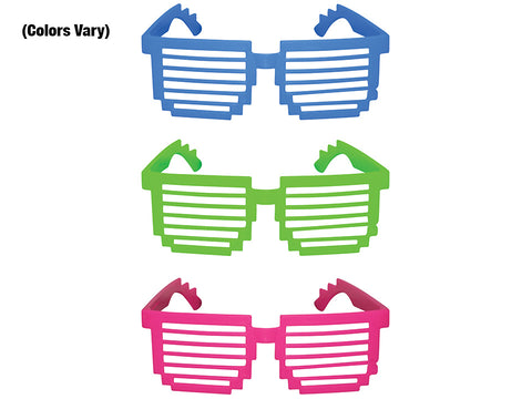 5'' Pixel Shutter Shades (colours vary)