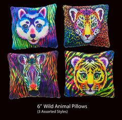 "6"" Wild Animal Pillows (styles vary)"
