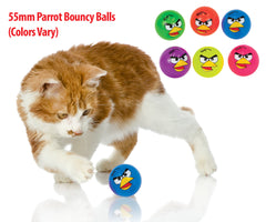 55mm Bouncy Parrot Balls (colours vary)