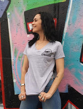 Load image into Gallery viewer, Women's Grey Short Sleeve Shirt
