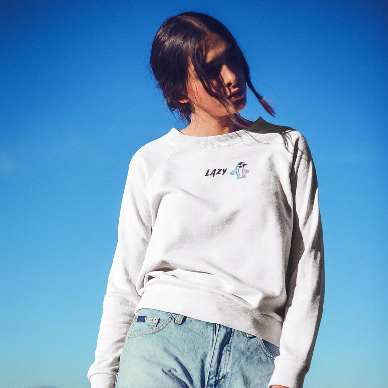 SWEAT-SHIRT LAZY GANG BLANC