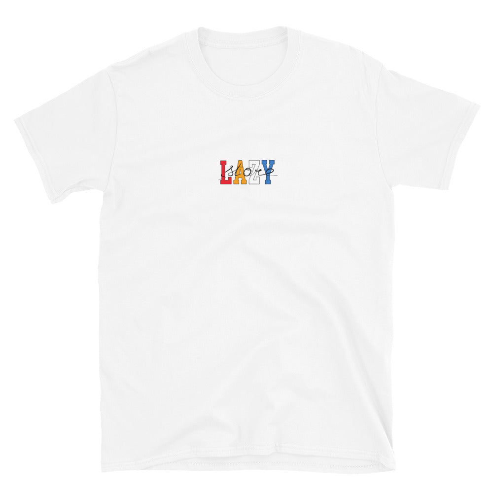 T-SHIRT LAZYSTORE UNIVERSITY WHITE