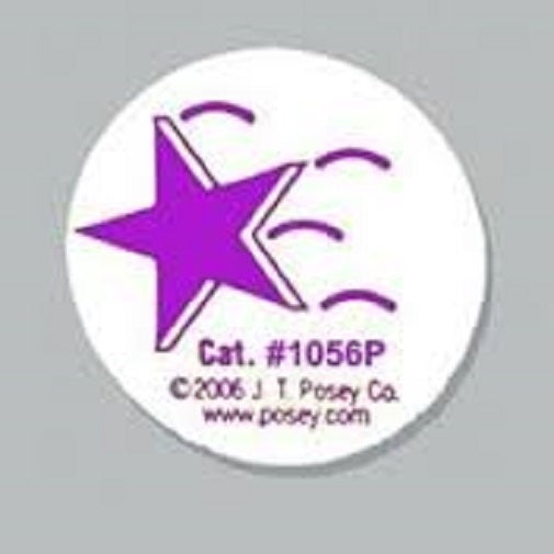 Posey Falling Star Stickers - 50 Stickers Per Roll