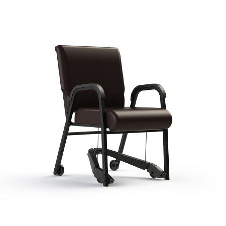 "ComforTEK Seating Inc CHAIR, DINNING TITAN W/MOBILITY ASSIST ROOTBEER/ROOTBEER 22"" - 841-22-5435-5435-REZ"